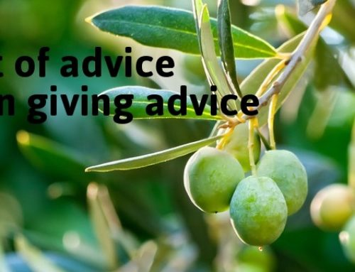 A bit of advice on giving advice